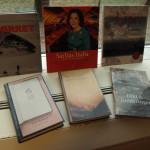De nominerte bøkene til Sørlandets Litteraturpris. Foto: AK Danielsen
