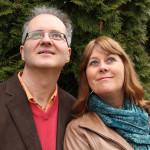 Knut Jørgen Røed Ødegaard og Anne Mette Sannes. Foto: Sannes og Ødegaards univers