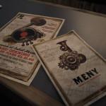 Skipstegninger av Hestmanden pryder menyen. Foto: AK Danielsen