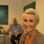 Ruth Elin Bergum Sveinall  selger e-sigaretter til kristiansandere. Foto: AK Danielsen
