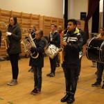 Kristiansand Skolemusikkorps øver i gymsalen til Todda - Tordenskjoldsgate skole. Foto: AK Danielsen