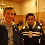 Andreas Storm-Larsen og Fabian Franco har spilt åtte år i korps. Foto: AK Danielsen