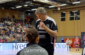 Gunnar Pettersen, her mot Larvik i Aquarama i fjor. | Foto: Pål Lomeland