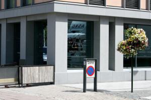 Restauranten ligger der rådhusgata møter Kirkegata. (Foto: Alf Otto Fagermo)