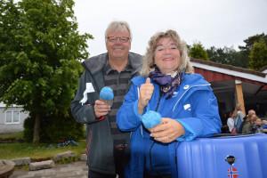 - Jeg var aldri i tvil om at det var Blå Kors jeg ville samarbeide med, sier Liv Aanby. Arvid Solheim, daglig leder ved Blå Kors Kristiansand, sier han er svært takknemlig for samarbeidet (Foto: Ivar Ødegaard Eidsaa)