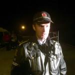 Innsatsleder i politiet, Vigleik Fidje (Mobilfoto: Pål Lomeland)