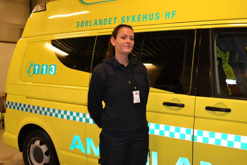 Elisabeth Flagtvedt, fagkoordinator ambulansetjenesten i Kristiansand (Foto: Madeleine Liereng)