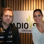Administrasjonssjef Morten Løvø og bak- og kantspiller Karin Weigelt, begge fra Vipers. | Foto: Glenn Th. Faannessen
