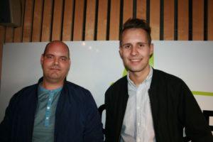 Christian Eikeland (FrP) og Kai Steffen Østensen (Ap) - Foto: Alf Otto Fagermo