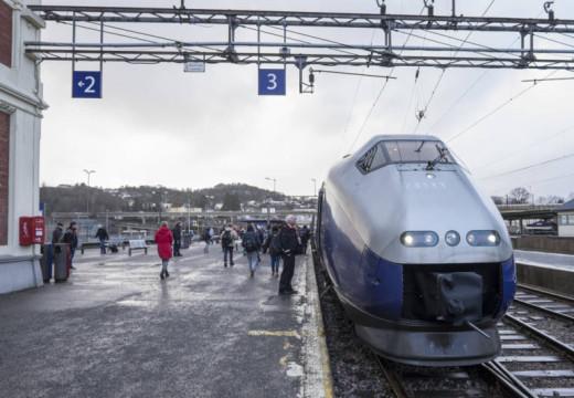 Sørlandsbanen stengt