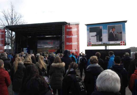 Kronprinser åpnet ny norsk/dansk strømkabel