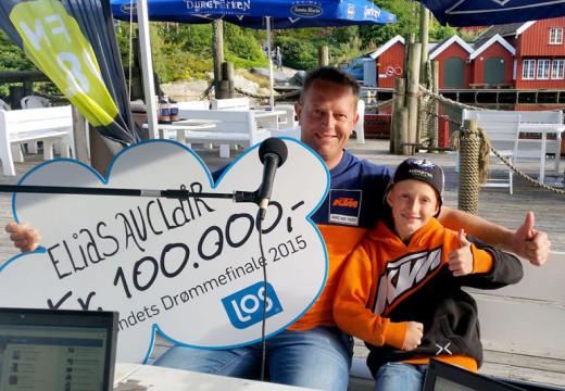 Ungt motocross-talent tildelt 100.000 kroner