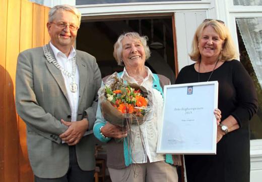 Helga Langeland tildelt kommunens frivillighetspris